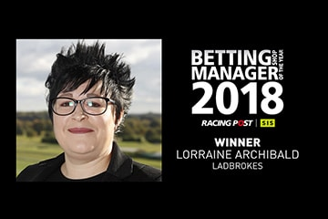 Lorraine Archibald crowned winner of the 2018 SIS/Racing Post Betting Shop Manager of the Year