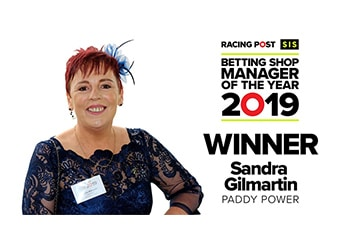 Sandra Gilmartin crowned winner of the 2019 SIS/Racing Post Betting Shop Manager of the Year